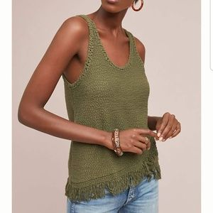 Anthropologie Akemi + Kin Fringed Sweater Tank Top